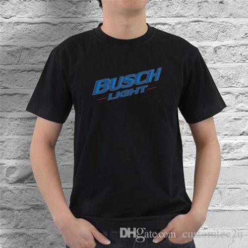 deeabd774f Busch Light Beer Logo Black/ White T-Shirt From Us Size S M L Xl 2Xl T Shirt  Men Male Family Team Custom Short Sleeve Valentine's Plus Size