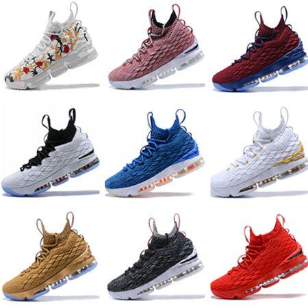 93cc91914315 2019 High Quality 15 Basketball Shoes Mens 15 Gold Championship MVP ...