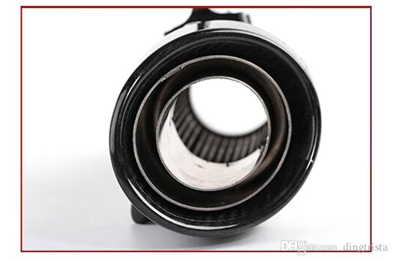 TKOSM Motorrad Auspuffrohr 51 mm 60 mm Einlassrohr SC GP Auspuffrohr in Kohlefaser mit Laser Logo