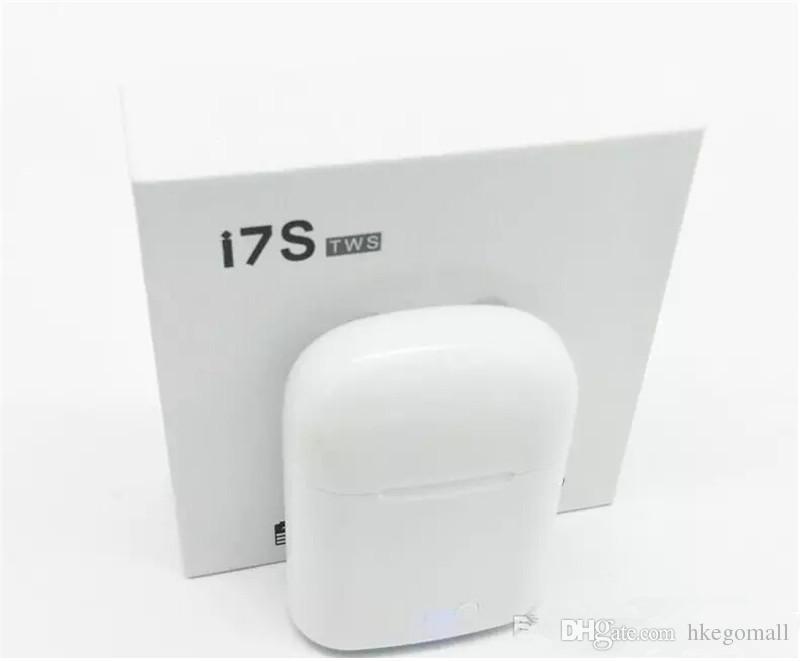 I7 I7S TWS Близнецы Bluetooth Наушники Наушники мини беспроводная гарнитура с микрофоном стерео V4.2 наушников для Iphone Android с розничной упаковке