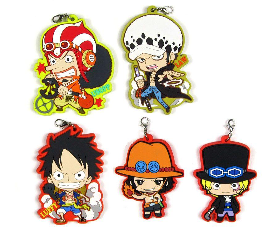 11f5d54c711e New Arrival One Piece Luffy Ace Nami Sabo Boa Hancock Zoro Chopper  Trafalgar Law Japanese Anime Rubber Keychain Strap D168 Key Tags Custom  Keychains From ...