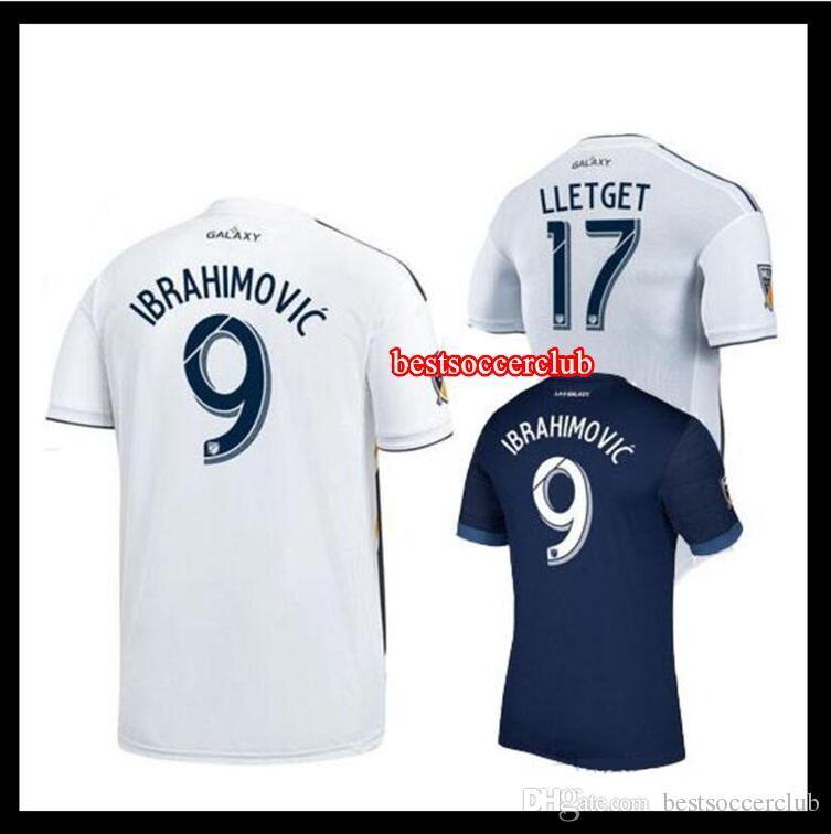 Calidad Tailandesa 2018 La Galaxy Camiseta De Fútbol 18 19 Ibrahimovic  Gerrard Los Angeles Camisa Keane Giovani Zardes Rogers Camisetas De Fútbol  Camisa Por ... 6b743a533df49