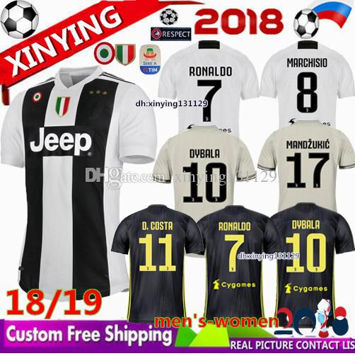 Champions League MEN Women 2018 RONALDO JUVENTUS Soccer Jersey Italy Juve  18 19 DYBALA MARCHISIO MANDZUKIC D.COSTA Matuidi Football Shirt UK 2019  From ... b23de02212