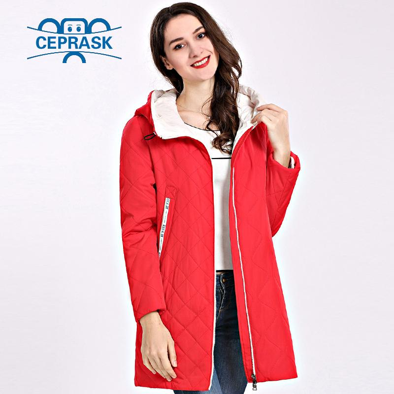 2ceaf33573 2019 2018 Spring Autum Women S Parka Coat Thin Women Jackets Long Plus Size  Hooded High Quality Warm Cotton Coats CEPRASK New Padded S18101201 From  Jinmei01 ...