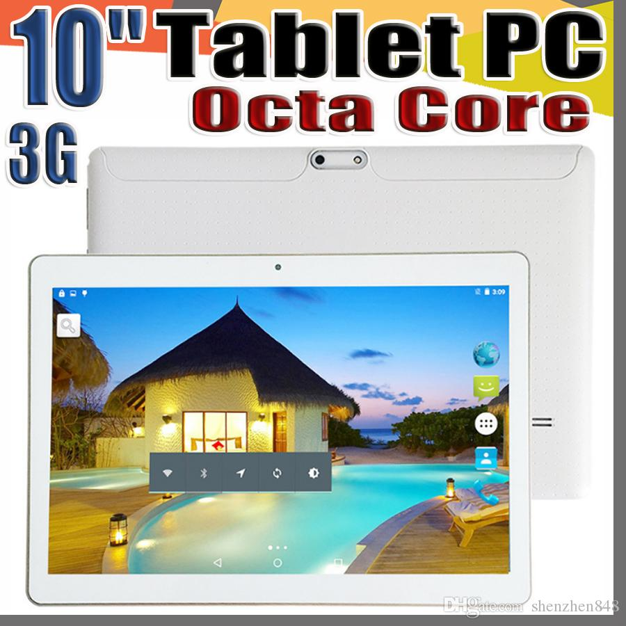 10X Llegada 10 Pulgadas Tablet PC MTK6582 Octa Core Android 6.0 Tableta 4GB RAM 64GB ROM 5mp IPS Pantalla GPS 3G Tabletas para teléfono E-10PB