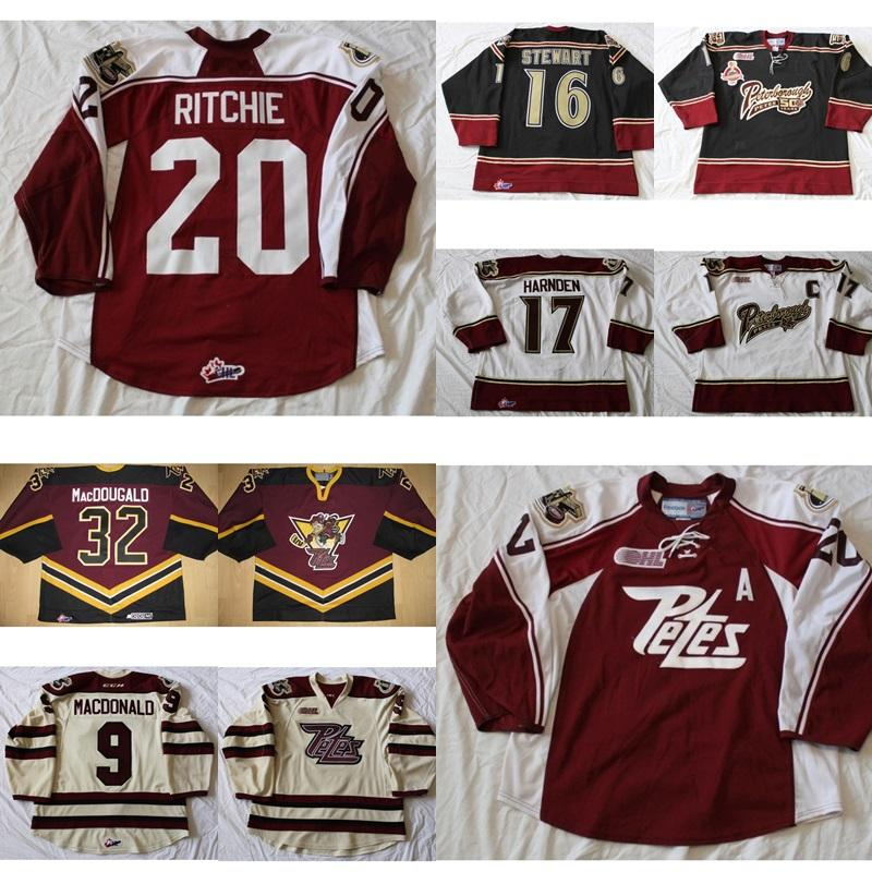Cheap Customize OHL Peterborough Petes Jersey 16 Stewart 17 Harnden 20  Pitchie Mens Womens Kids Stitched Goalit Goalie Cut Hockey Jerseys UK 2019  From ... e4f1da5b1