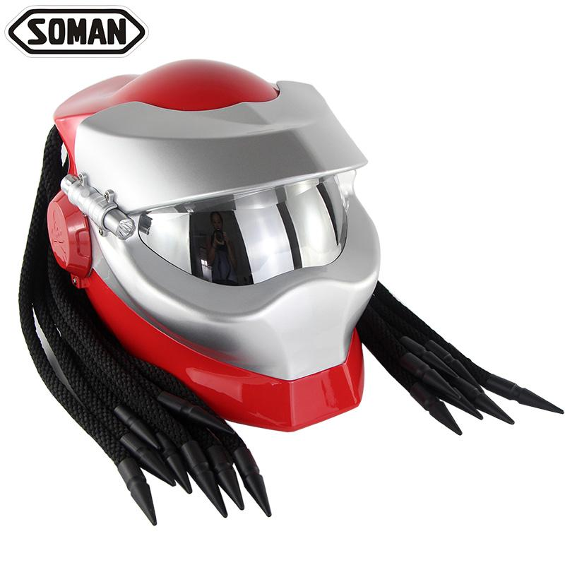 New Arrival Brand Soman 958 Full Face Motorcycle Helmet Motorbike Casque Moto Casco Riding Protector Helmets With Braids