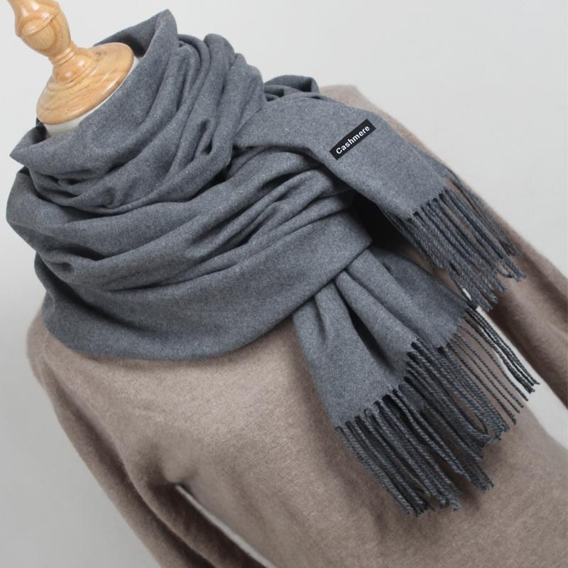 a29419fa66c4 Acheter Écharpe En Cachemire Pour Femme Hiver Pashmina Solid Femme Foulards  De La Mode Écharpe En Maille Tricotée Rouge Hijabs Pour Foulard Pour Femme  YR001 ...