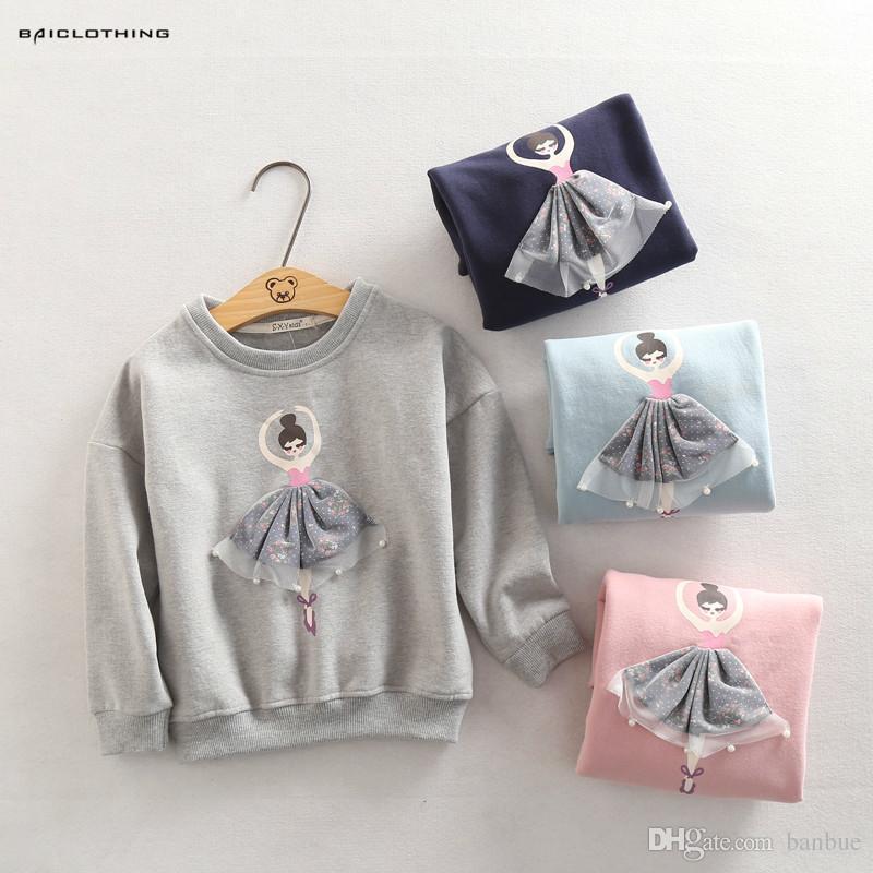 905ae7b836fd 2016 New Fashion Kids Autumn Girls Tops Cartoon Pattern Sweaters ...