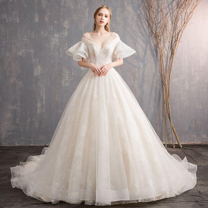 Shop For Cheap Plus Size Muslim High Collar Long Sleeves Wedding Dresses Lace Appliques Dubai Saudi Arabic 2019 Garden Cheap Robe De Soiree Bri Weddings & Events