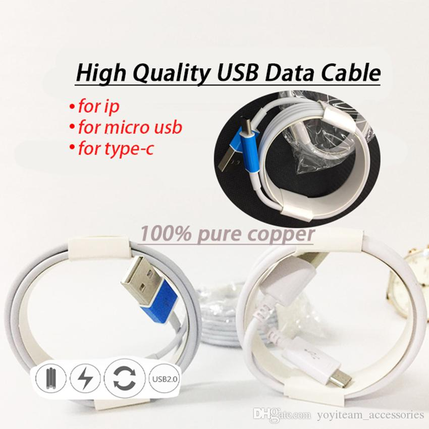 type-c micro usb cable android v8 connector for galaxy round cable 1 merter 3.3ft high quality support quick charge