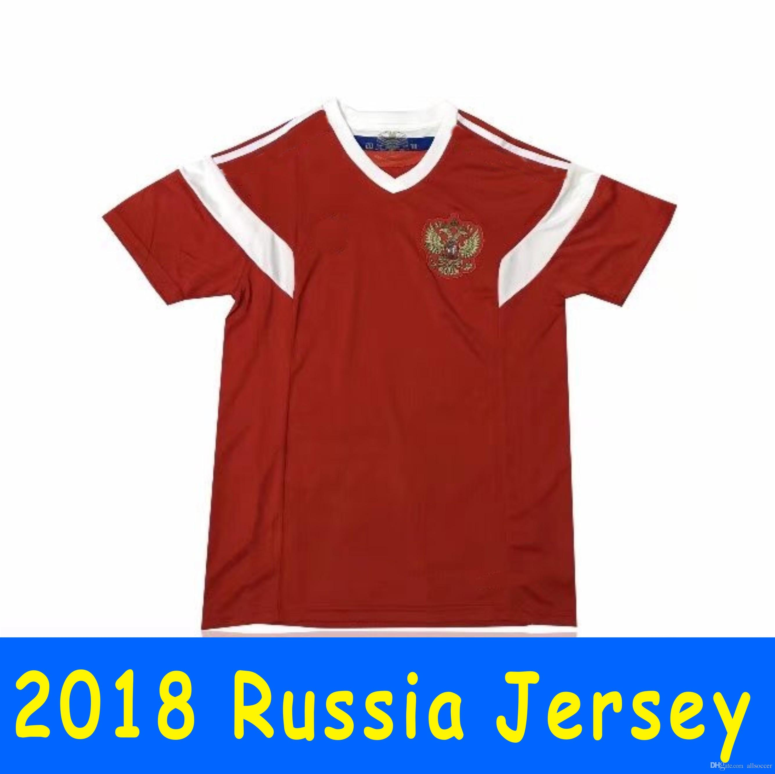quality design 6dffb 83095 2018 world cup Russia Soccer Jerseys 2018 world cup Russian Home red  Football uniform #10 DZAGOEV #11 SMOLOV Thai Quality Soccer Shirts