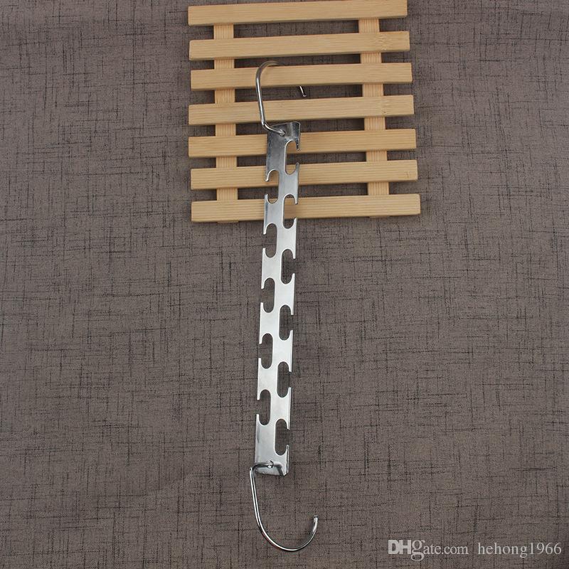 Magic Iron Hanger Two Sided Home Furnishing Articles Coat Hangers Multi Function Racks Hook Silvery 5 8cn V