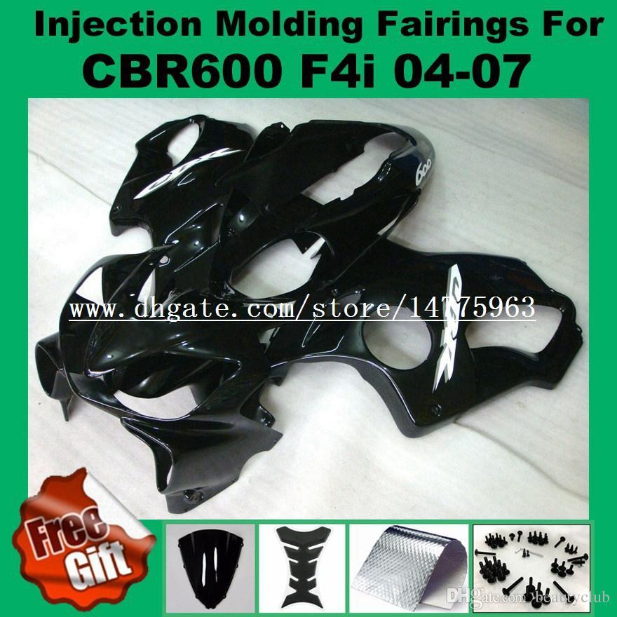 Injection Fairings For F4i HONDA CBR600F4i 04 05 06 07 CBR 600 F4i CBR600RR F4i 2004 2005 2006 2007 pre_drilled Fairing kits blue black