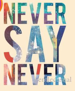 NEVER SAY NEVER Patches for Tshirts DIY Cool Letters Printed 3D Stickers for Clothing Hoodies Coats