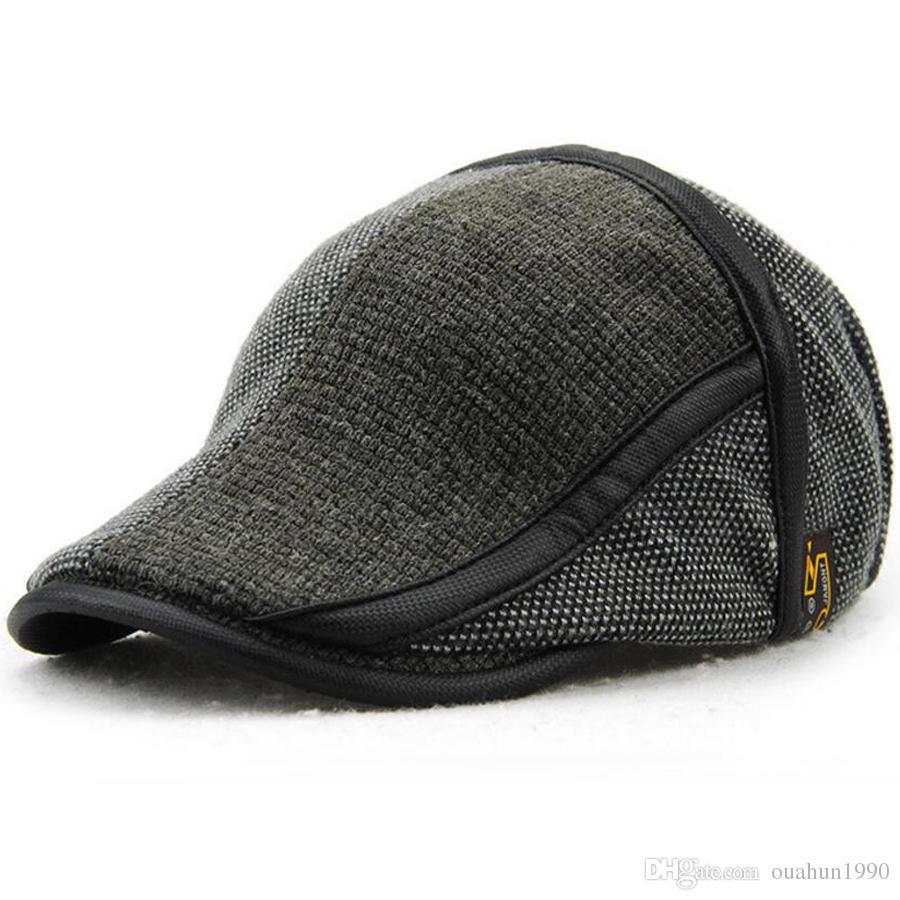 Duckbill Hat Winter Warm Newsboy Flat Scally Baseball Cap Ivy Cabbie ... f6d6d91dbf41