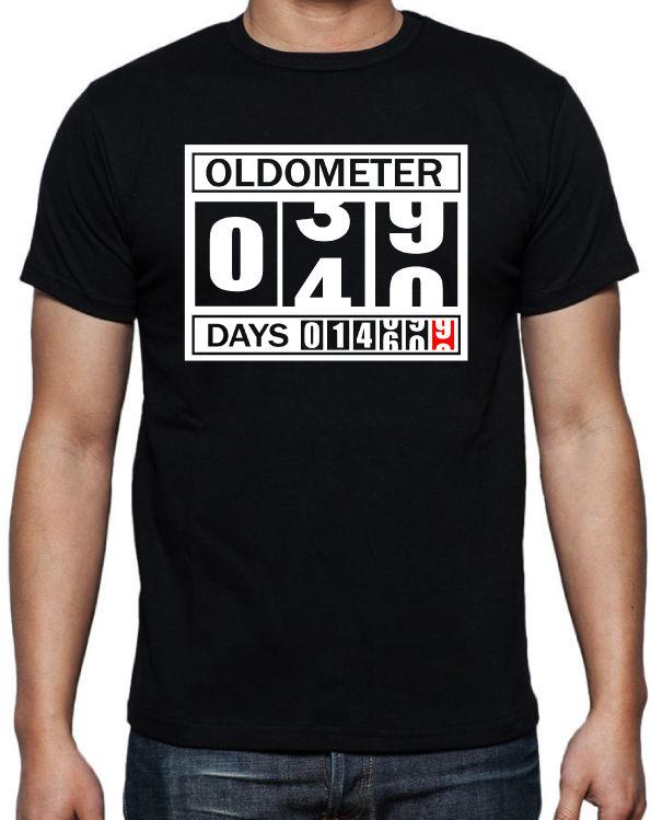40th Birthday Oldometer Funny Present Gift Party Son Brother Dad Black T Shirt Business Retro Tees From Nkotshirts 1101