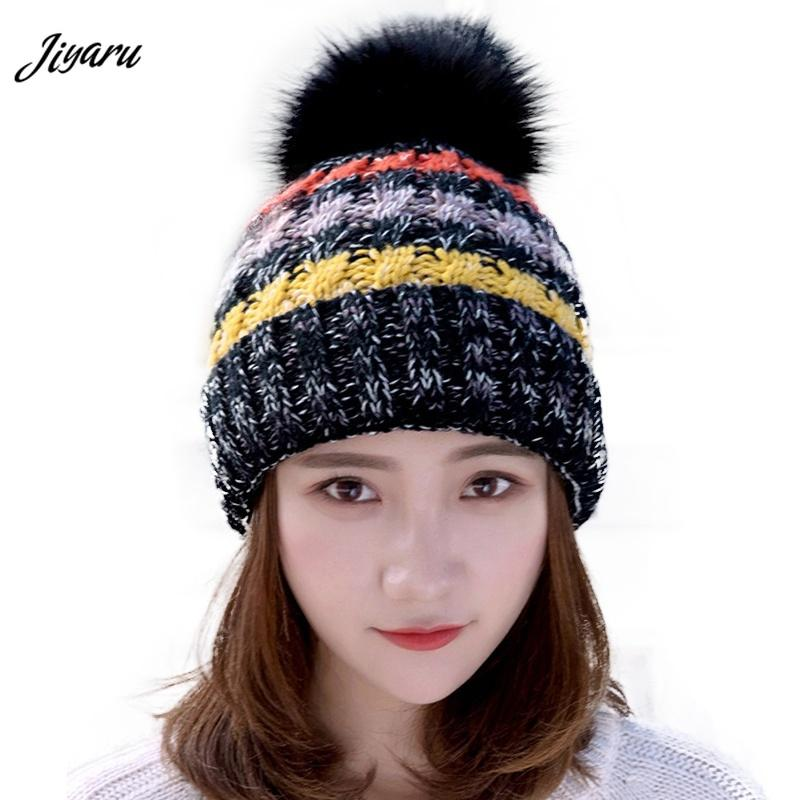 2018 Girls Autumn Winter Hats Stretchy Beanies Caps Fashion Ladies Beanies  Female Knitted Hats Women Stylish Skullies Beach Hats Beanie Hats For Men  From ... f410919bf1d4