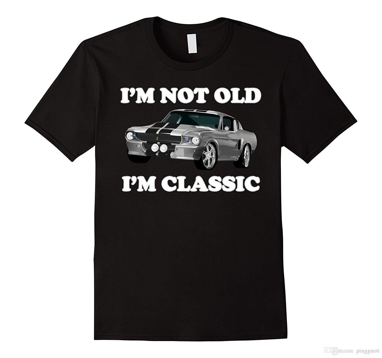 I M Not Old I M Classic American Muscle Car Horsepower Shirt Men