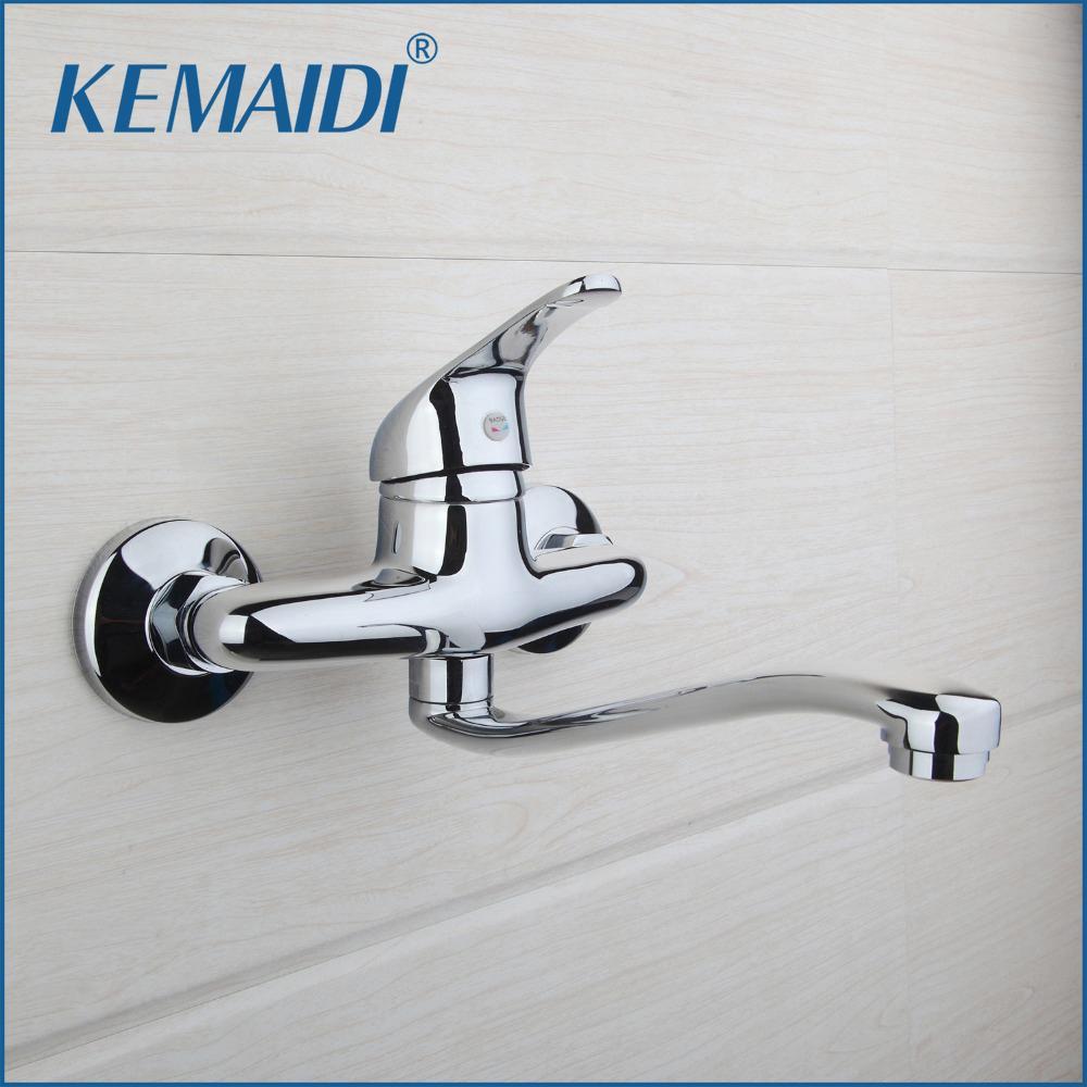 2018 Kemaidi Bathroom Faucet Single Handle Chrome Finish Brass ...