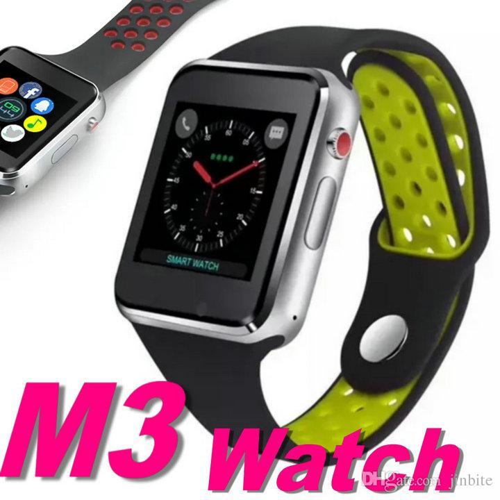 1576fd489510 Reloj Movil M3 Smart Reloj De Pulsera Con 1.54 Pulgadas LCD OGS Pantalla  Táctil Capacitiva Smartwatch SIM Tarjeta Ranura De La Cámara Para El  Teléfono ...