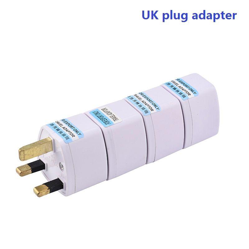 hopeboth Adattatore da viaggio universale AU Convertitore adattatore da UE a Regno Unito, connettore adattatore di alimentazione CA a 3 pin