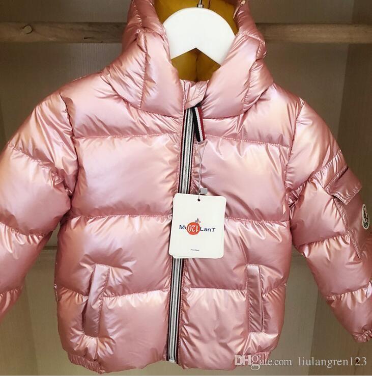 9f03b4e785ed New Winter Baby Girls Boys Coat Top Quality Sliver Stripe Down ...
