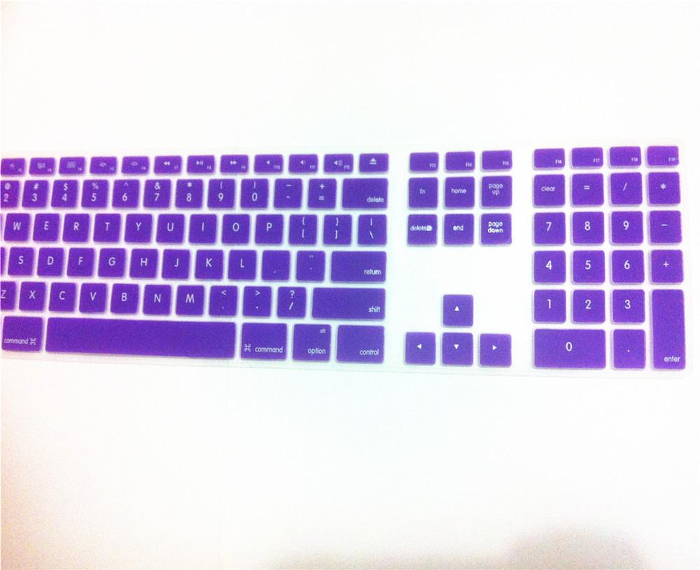 6a39ab5950a Computer Desktop Color Silicone Keyboard Cover Skin Protector With A  Numeric Keypad For IMac G5/G6 Cover Keyboard Keyboard Dust Covers From  Cowpea, ...