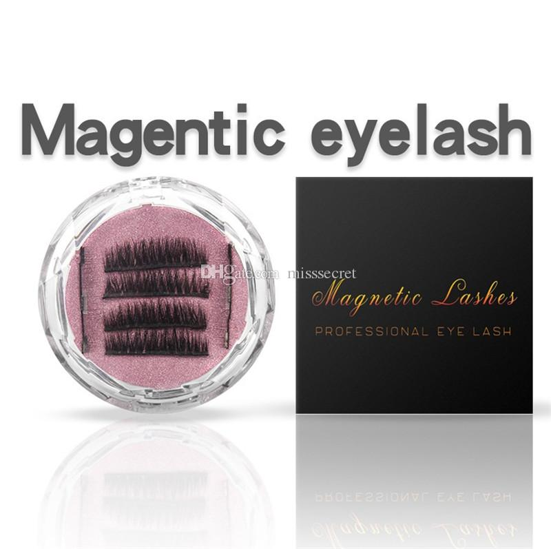 Three Magnetics Eye Lashes 3D Mink Reusable Dual False Magnet Thick Eyelashes Extension 3d eyelash extensions magnetic eyelashes