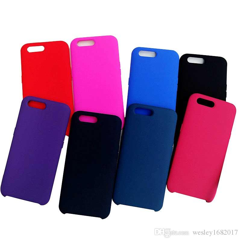 01e3a3bea For IPhone X 8 7 7Plus Liquid Silicone Phone Case For Iphone 6 6s Solid  Color Mobile Phone Back Cover For S8 S9 Plus Cell Phone Case Wholesale  Clear Cell ...