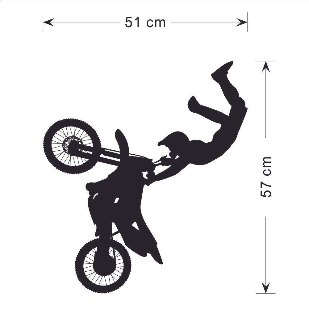 Tribal Bike Motorrad Vinyl Removable Wandaufkleber Sport Dekor Wandbild Zimmer Papier Kunst Aufkleber für Wohnzimmer Wohnkultur 51 * 57 cm