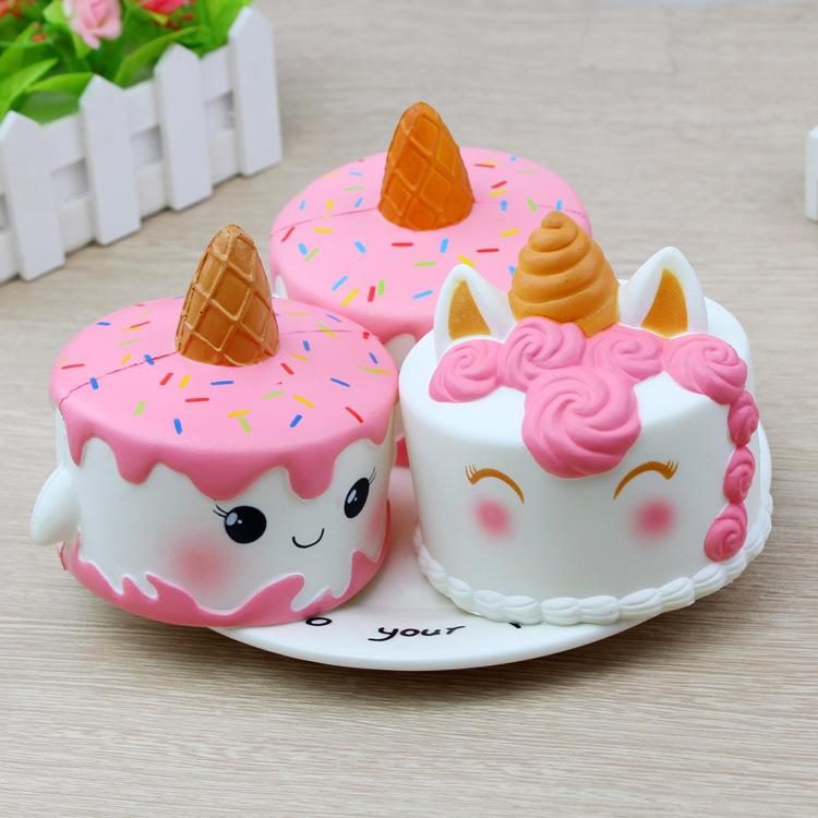 11cm Jumbo Squishy Cute Unicorn Cake Squishies Super Slow Rising Cream Scented Squeeze Toy ...