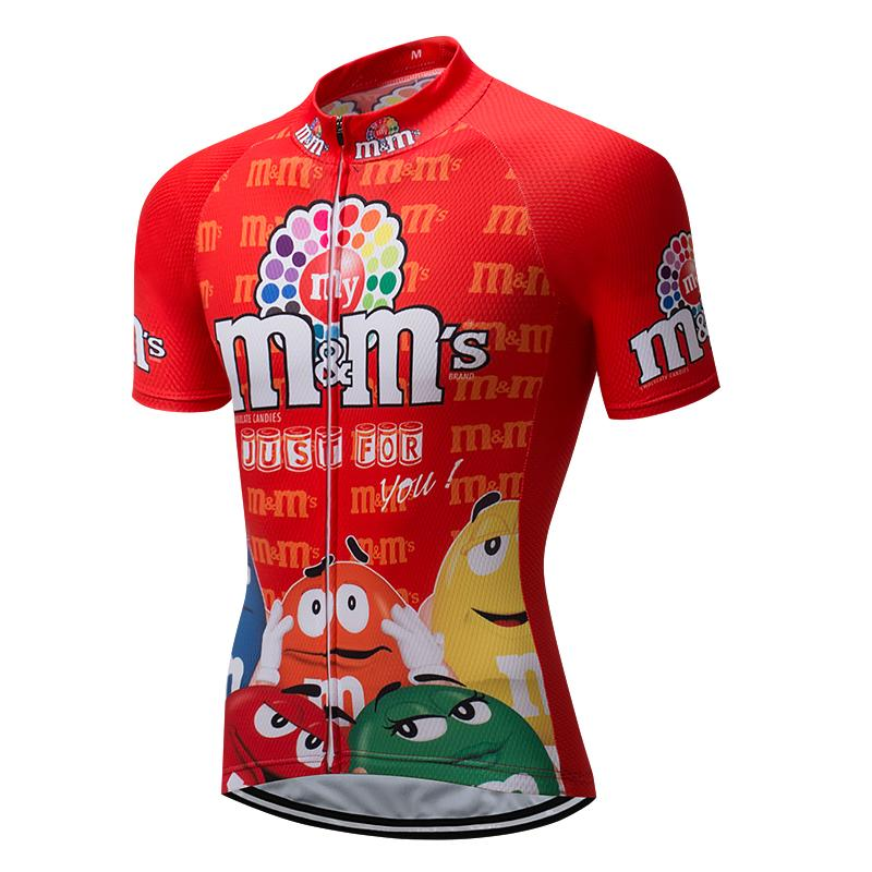 855e3b605 Summer 2018 Red M Ms Men S Cycling Jersey Funny Mtb Mountain Bike Clothing  Bicycle Wear Clothes Short Maillot Anti Sweat Uniform Bike Apparel Cycling  Bib ...