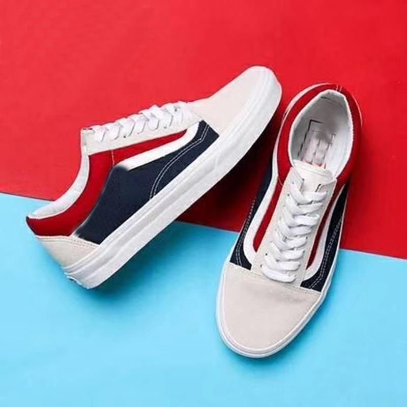 a3d74596767 Compre Mais Recente Marca De Moda Sneakers Pop Up Store Top Quality Velho  SKool Off Moda Feminina Skate Dos Homens Vulcanizado Ins Sapatas De Lona 35  44 De ...