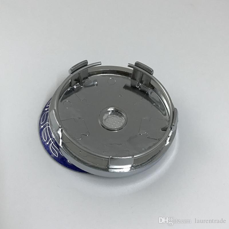 60mm 5-polig verchromt blau Radmitte Radkappe Aufkleber Auto Felgen Emblem UN02 für Benz für Universal Felge