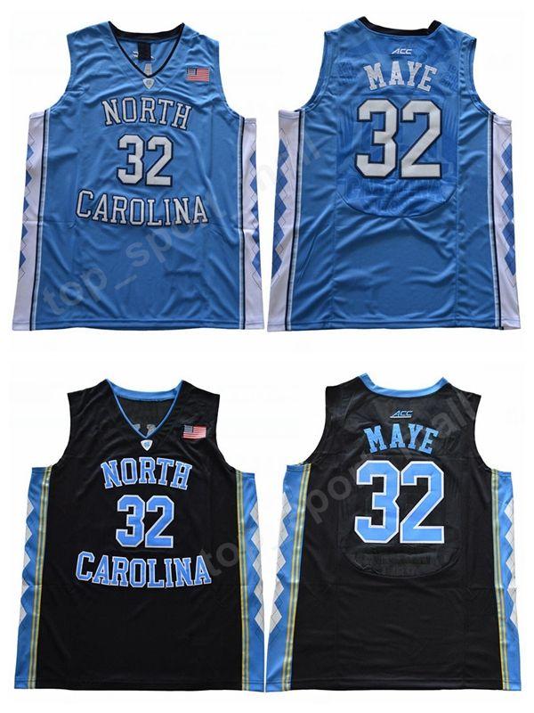 quality design 16f44 2aeef College 32 Luke Maye Jersey Men New Style North Carolina Tar Heels  Basketball Jerseys Maye University Uniform Sport Team Black Road Blue