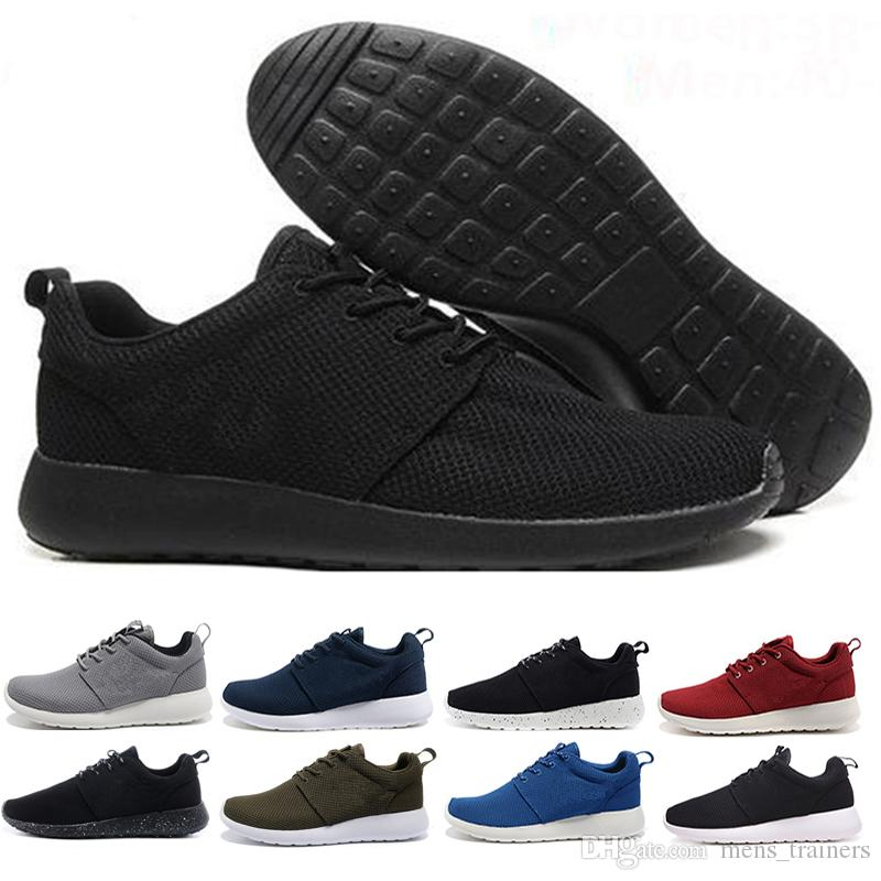 promo code 81aeb 3eb51 Acheter Air Roshe Run One En Gros 2018 Nouvelle Vente Chaude Courir Londres  Olympic Run Chaussures Noir Mode Hommes Femmes Sports Runs Chaussures  Marche ...