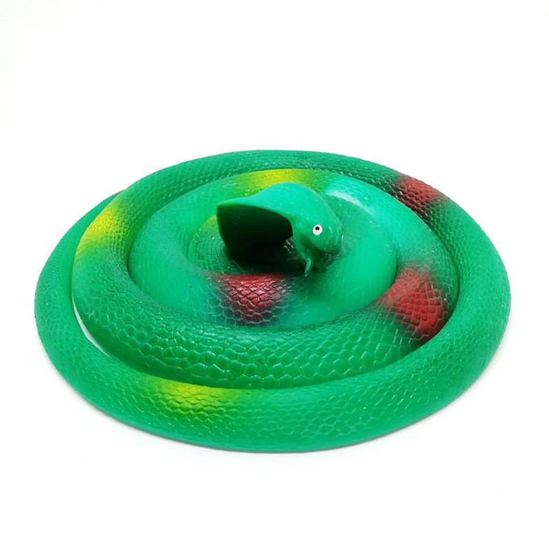 140cm / 445g Nouveauté Halloween Cadeau Tricky Funny Spoof Jouets Simulation Doux Effrayant Faux Serpent Horreur Jouet Cobra Serpents Pour La Fête Événement