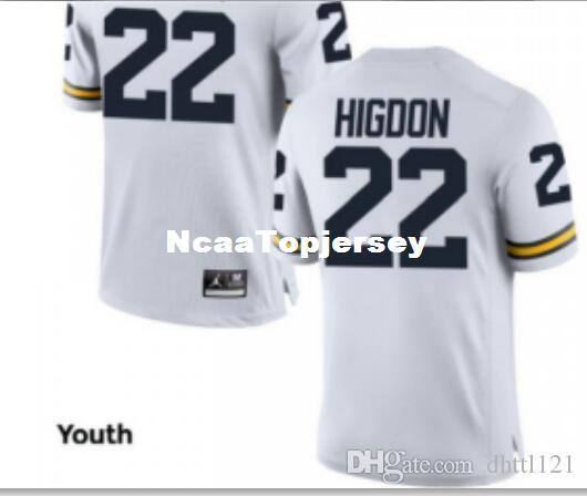 the best attitude 0027b 87cc4 Cheap Men #22 White Navy Karan Higdon Michigan Wolverines Alumni Jersey  Stitched Football jerseys