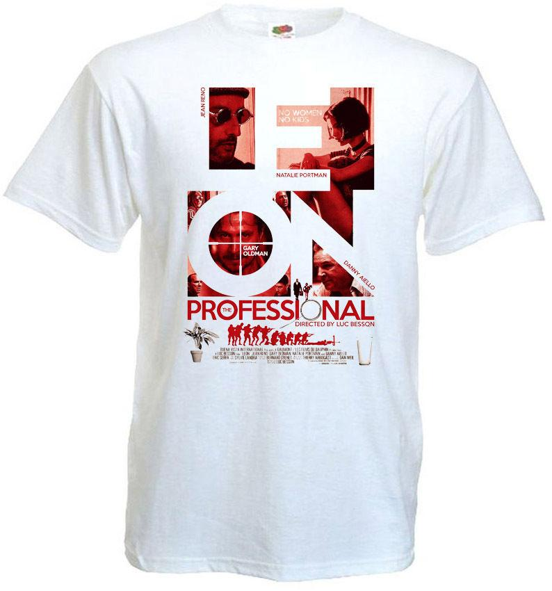 2b636cb5 Leon The Professional T Shirt White Movie Poster All Sizes S 3xl Print T  Shirt Men Summer Style Gray Style Light Cool T Shirts Design Designs Shirts  From ...