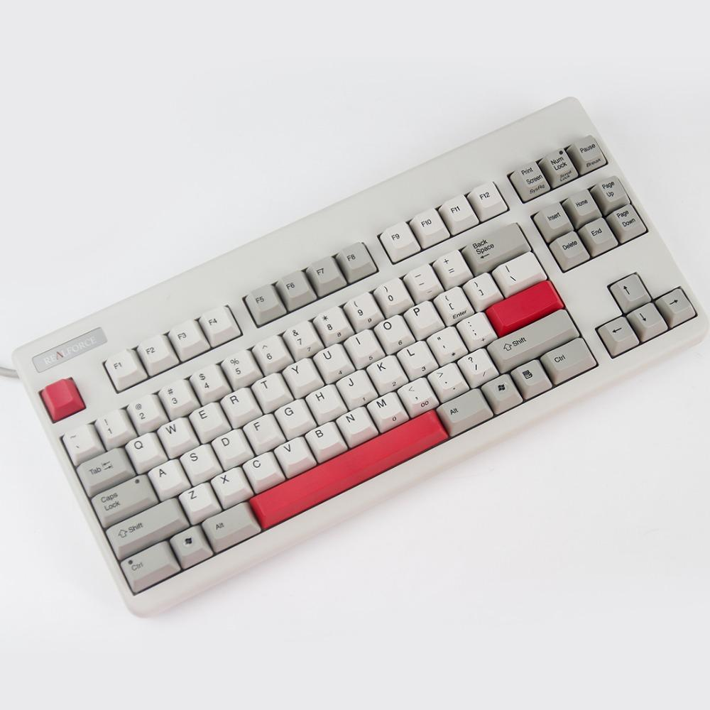 KBDfans Electrostatic Capacitive PBT Keycaps red support hhkb topre keyboard