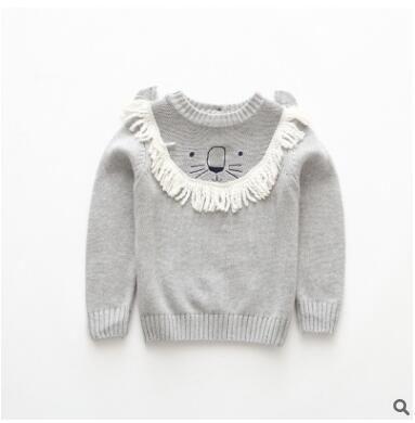 574a357a2 INS Children Knitting Sweater 2018 New Spring Baby Girls Boys Tassel ...