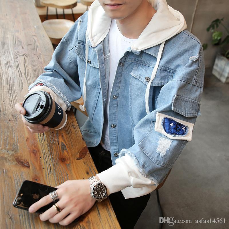 Acquista 2018 Primavera Autunno Jeans Giacca Cowboy Coat Moda Coreana Giacca  Casual Uomo Gioventù Denim Abbigliamento Giacche Uomo Moda 262+ A  38.57  Dal ... d7fa94cd541