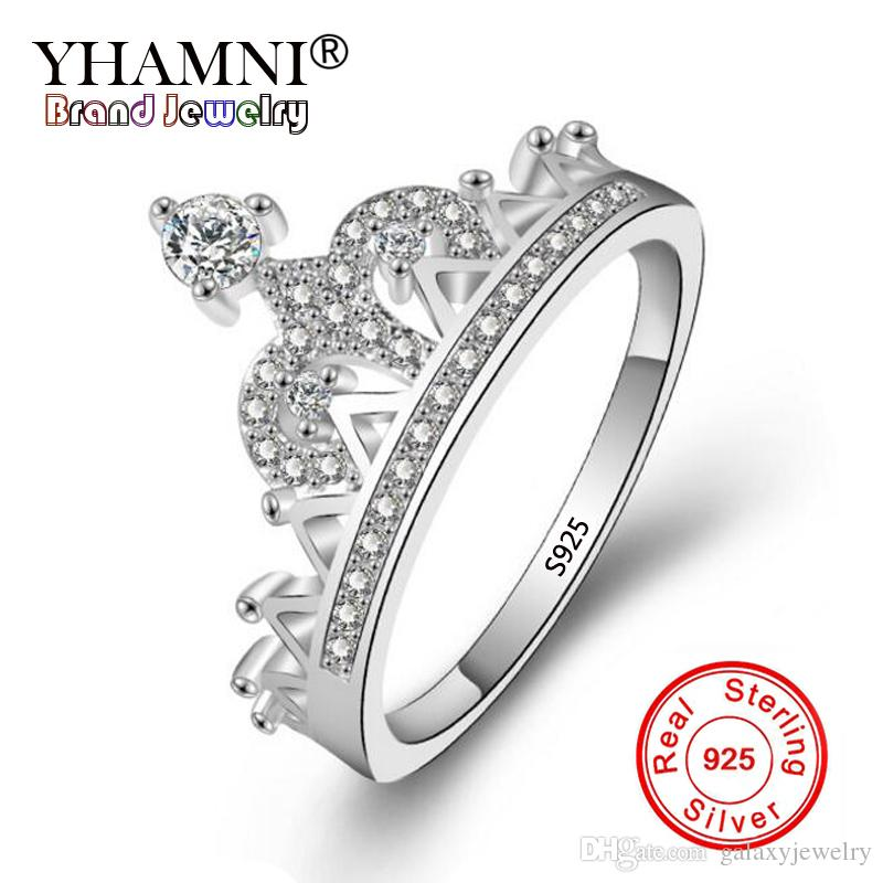 YHAMNI Exquisite Crown Shaped Ring 925 Sterling Silver CZ Wedding Rings For  Women Fashion Cubic Zirconia Jewelry YDM085 UK 2019 From Galaxyjewelry c65183d7ec