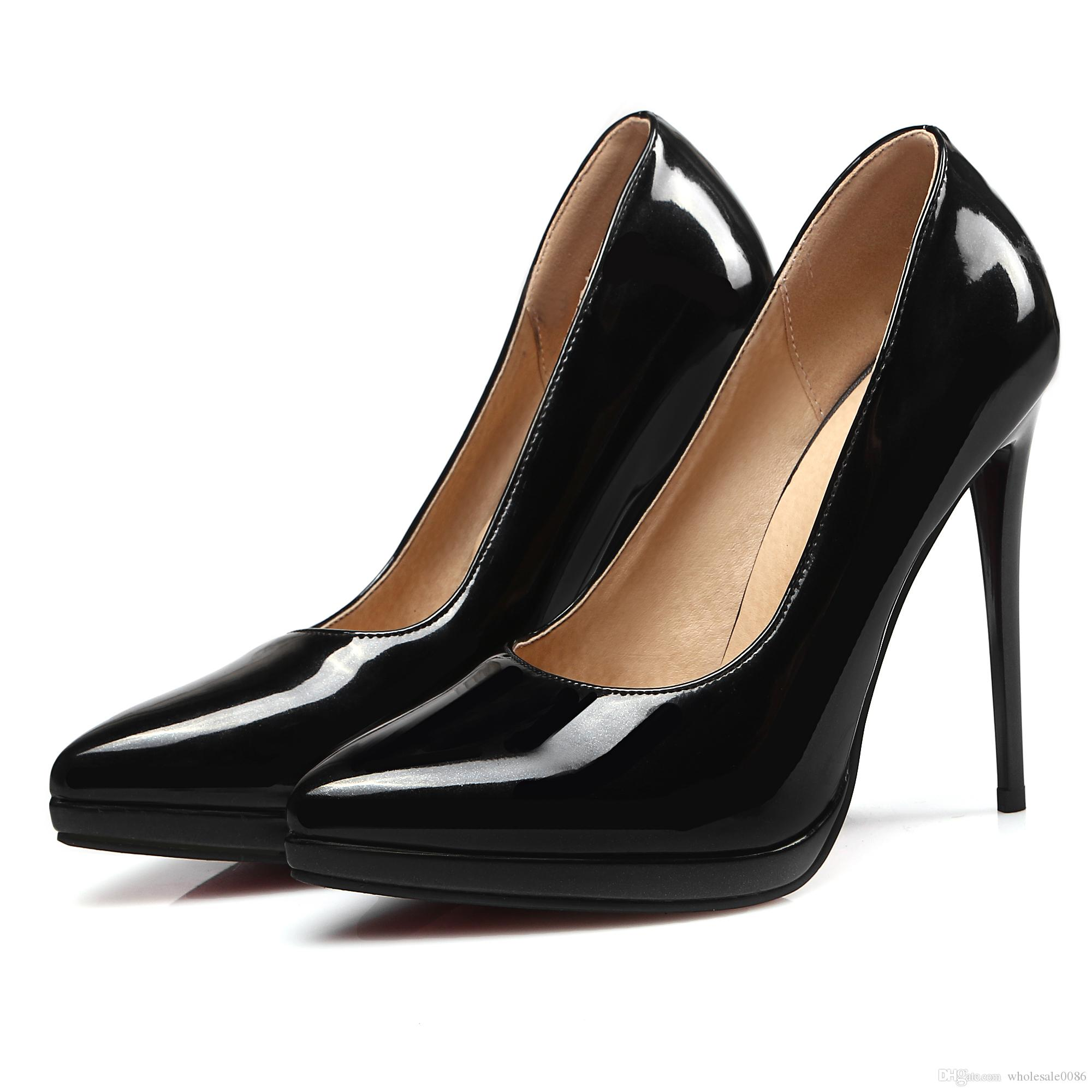 f02f0057a Fashion Women's Synthetic Leather Sexy Platform High Heel Pumps ...