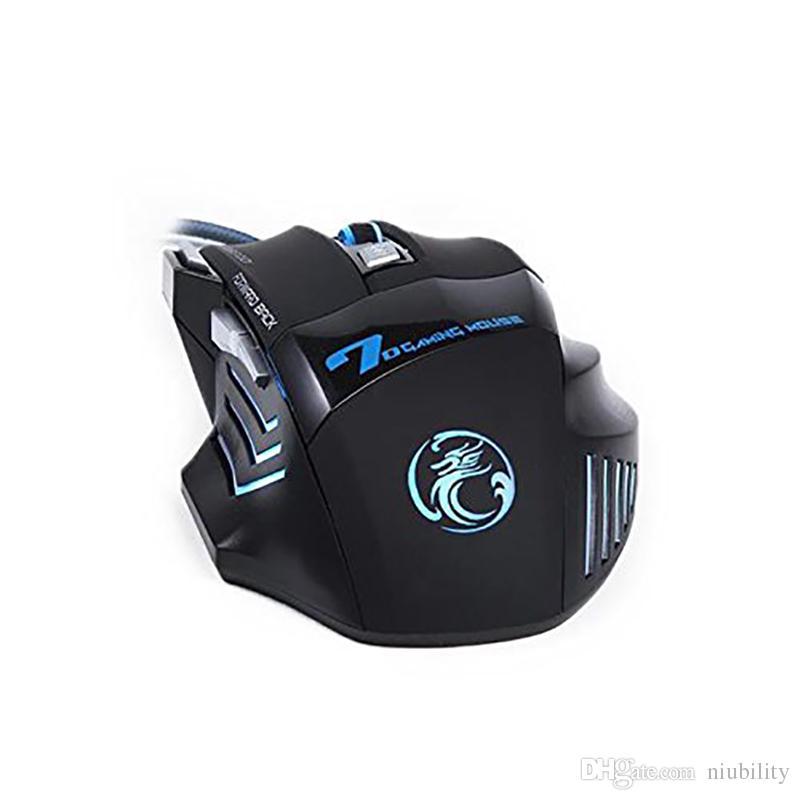Orijinal iMICE X7 Kablolu Gaming Mouse 7 Düğmeler 2400 DPI LED Optik Kablolu Kablo Gamer Bilgisayar Fareler Için PC Laptop tarafından niubility