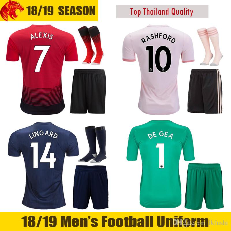 18 19 ALEXIS Football Uniforms FRED 2018 2019 LUKAKU POGBA Soccer ... f725859ed