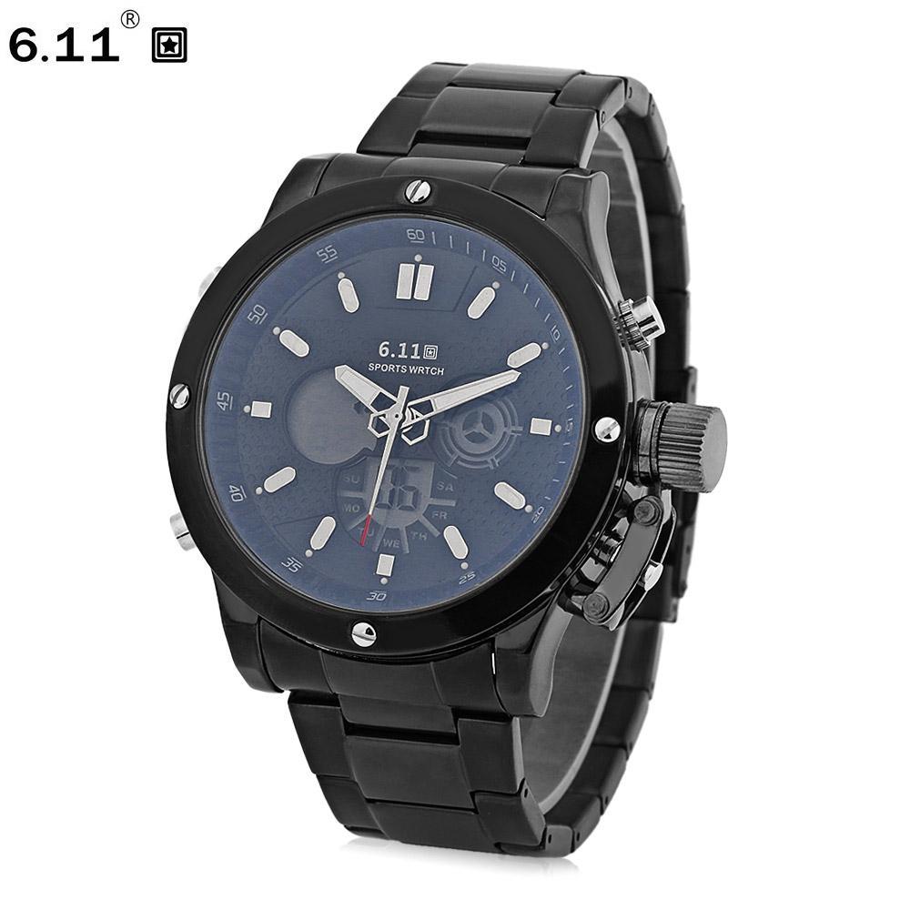 7407c5b3cb25 Compre 6.11 Reloj Deportivo Para Hombre Reloj De Pulsera Para Alarma Con  Cronómetro Y Reloj Despertador Doble Movt Day A  30.76 Del Wanyar