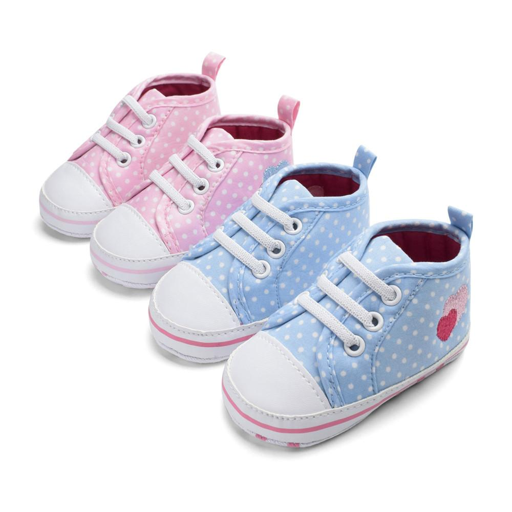 First Walkers Official Website Factory Price Baby Girl Soft Sole Shoes Dots Bowknot Toddler Anti-slip Shoes Newborn
