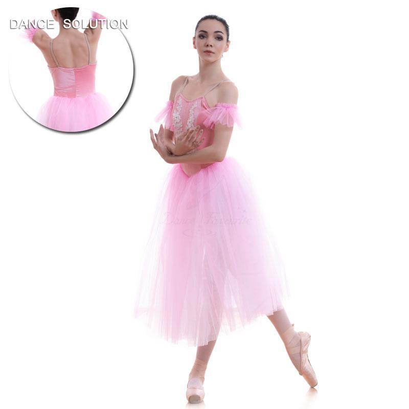 be260b3e9f 2019 Pink Velvet And Soft Tulle Long Ballet Dance Tutu For Adult Girls  Performance Ballerina Dance Costume Romantic Tutus 18090 From Florence33,  ...